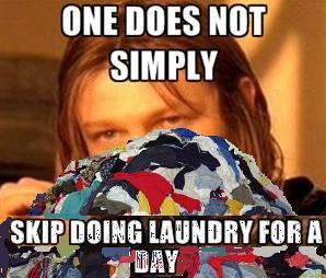 skip doing laundry